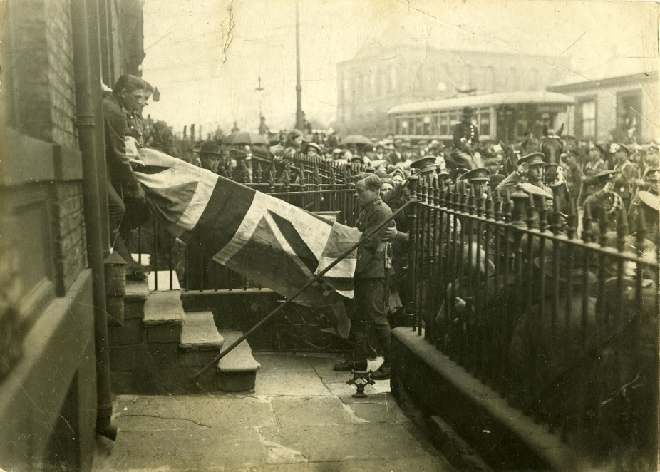 funeral of sergeant richard dellow in 1919