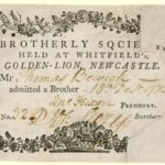 picture of a victorian guest pass to a brotherly society