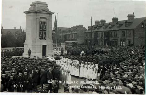Opening Gateshead Cenotaph in 1922